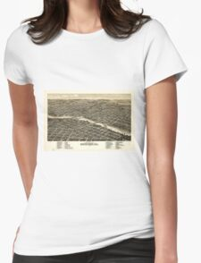 Bird's eye view of the city of Rockford Illinois (1880) T-Shirt