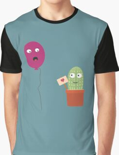 Cactus in love with balloon Graphic T-Shirt