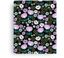 Flowers - black love lilac pastel by andrea lauren Canvas Print