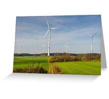 Windpark, Bavaria, Germany. Greeting Card