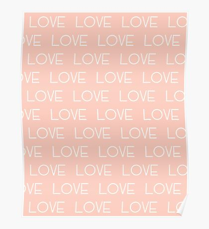 Love typography valentines day gift pastel cute text white minimal abstract  Poster
