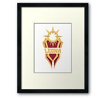 Leona's Shield  Framed Print