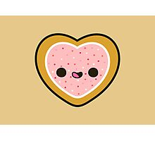 Cute heart cookie with sprinkles Photographic Print