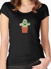 Nerd cactus Women's Fitted Scoop T-Shirt