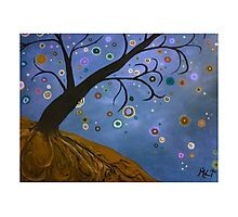 Magical Mystical Tree Brown Photographic Print