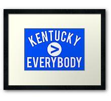 Kentucky > Everbody - Go Wildcats Framed Print