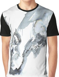 Watercolor Reindeer  Graphic T-Shirt