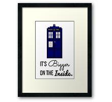 Doctor Who Tardis: It's Bigger on the Inside (Script) Framed Print