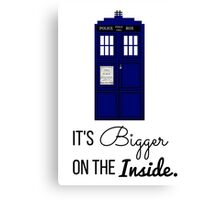 Doctor Who Tardis: It's Bigger on the Inside (Script) Canvas Print
