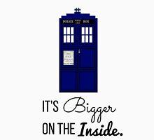 Doctor Who Tardis: It's Bigger on the Inside (Script) Unisex T-Shirt