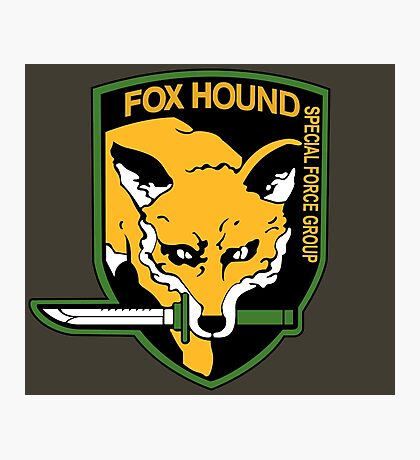 Metal Gear Solid - Fox Hound Emblem Photographic Print