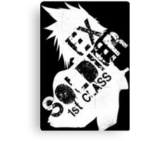 Cloud Strife ex-SOLDIER white Canvas Print