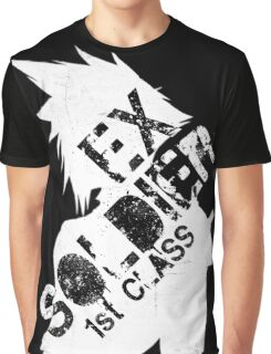 Cloud Strife ex-SOLDIER white Graphic T-Shirt
