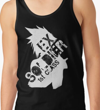 Cloud Strife ex-SOLDIER white Tank Top
