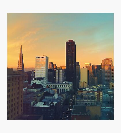 Morning city lights Photographic Print
