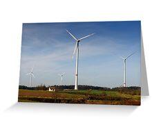 Windpark 2, Bavaria, Germany. Greeting Card