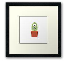 One eyed cactus Framed Print