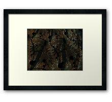 Forest Floor Art Texture Framed Print