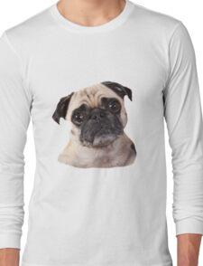 cute little pug dog Long Sleeve T-Shirt