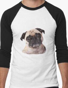 cute little pug dog Men's Baseball ¾ T-Shirt