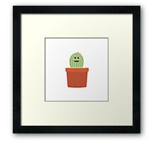 Baby cactus Framed Print