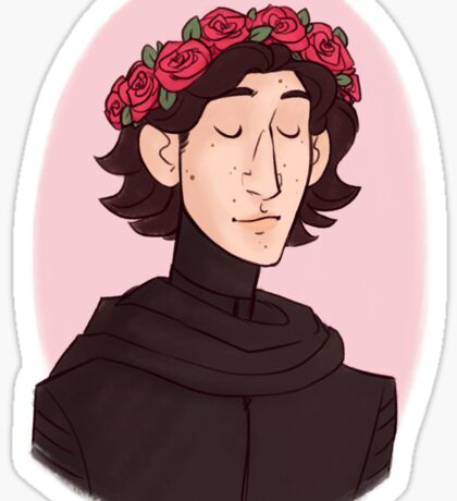 flower crown kyle Sticker