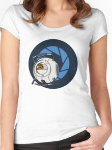 Portal 2 Space Core! Women's Fitted Scoop T-Shirt