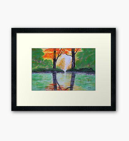 Green Summer Framed Print