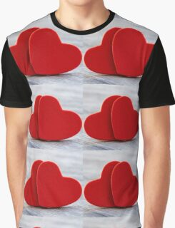 Valentine heart background Graphic T-Shirt