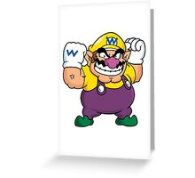 Wario from the Mario series Greeting Card