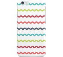 Pink Sky Wavy Line Pattern iPhone Case/Skin