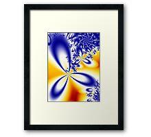 Summer Skies Colorful Artwork Framed Print