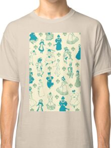 Vintage Ladies BLUE BEIGE Classic T-Shirt