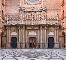Entrance to Basilica in Montserrat by Kim Pedersen