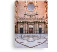Entrance to Basilica in Montserrat Canvas Print