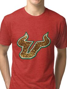 University of South Florida Bulls logo Tri-blend T-Shirt