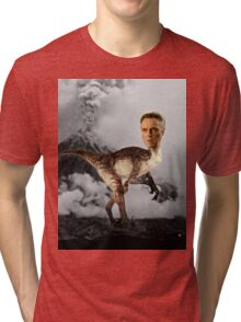 ChristopheRAPTOR Walken - Christopher Walken Velociraptor Tri-blend T-Shirt