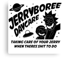 Rick and Morty Inspired Jerryboree Daycare Canvas Print