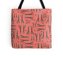 Lovingly, Giraffe (Pantone's Peach Echo) Tote Bag