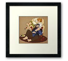 Thorin and Bilbo Framed Print