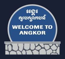 Welcome to Angkor Wat, Siem Reap, Cambodia One Piece - Short Sleeve