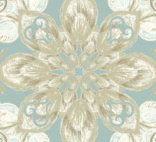 Soft Sage & Cream hand drawn floral pattern Sticker