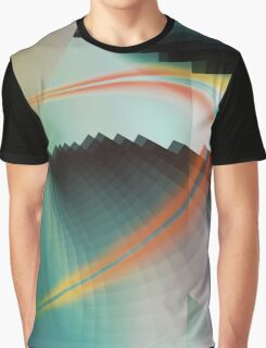 Multi-Color Abstract Symbol Graphic T-Shirt
