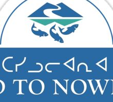 Road to Nowhere Sign, Iqaluit, Canada Sticker