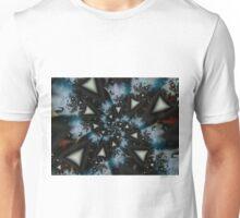 Blue White Triangle Spiral Unisex T-Shirt