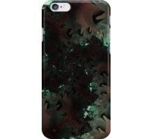 Red Green Snowflake Abstract Design iPhone Case/Skin