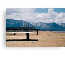 Docks on Dry Lake Tahoe Canvas Print