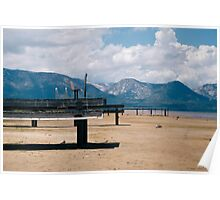 Docks on Dry Lake Tahoe Poster