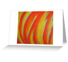 Fire and Blue Greeting Card