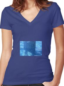 WATER DROPLETS Women's Fitted V-Neck T-Shirt